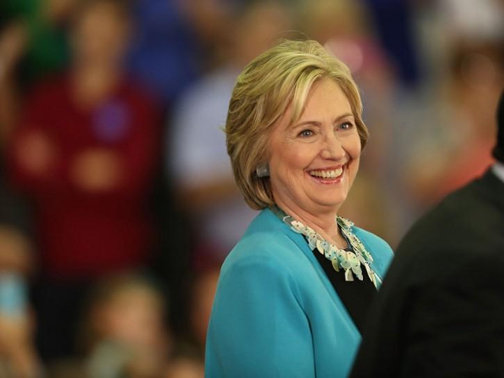 Hillary Clinton sorridente