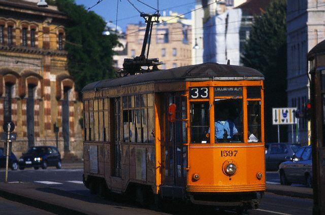 Tram car in Milano