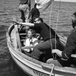"Ingrid Bergman e Roberto Rossellini sul set di ""Stromboli"""