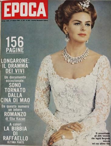 Ingrid Bergman sulla copertina di Epoca