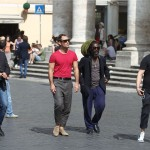 Jude Law a spasso per Roma