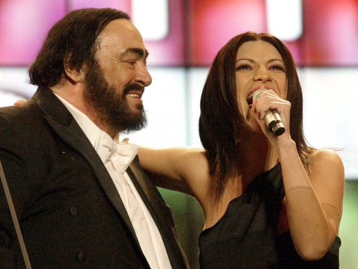 Laura Pausini e Pavarotti 2005