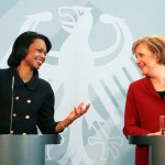 Merkel 2005 Condoleeza Rice