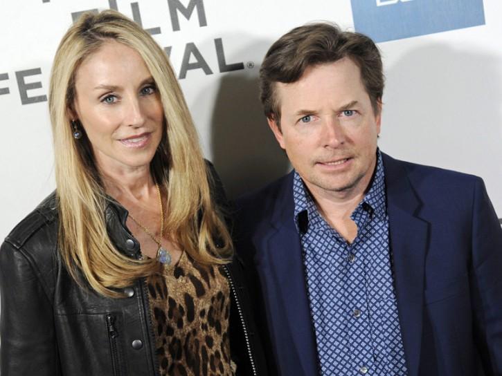 Michael J. Fox e la moglie Tracy Pollan