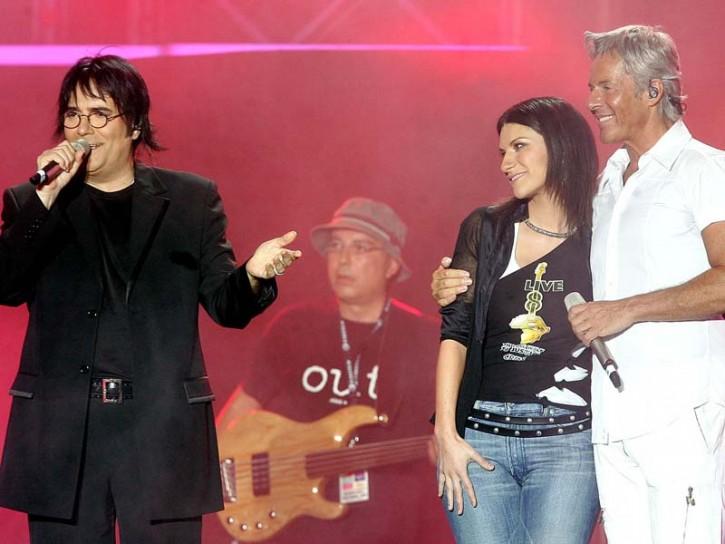 Renato Zero Laura Pausini e Claudio Baglioni 2005