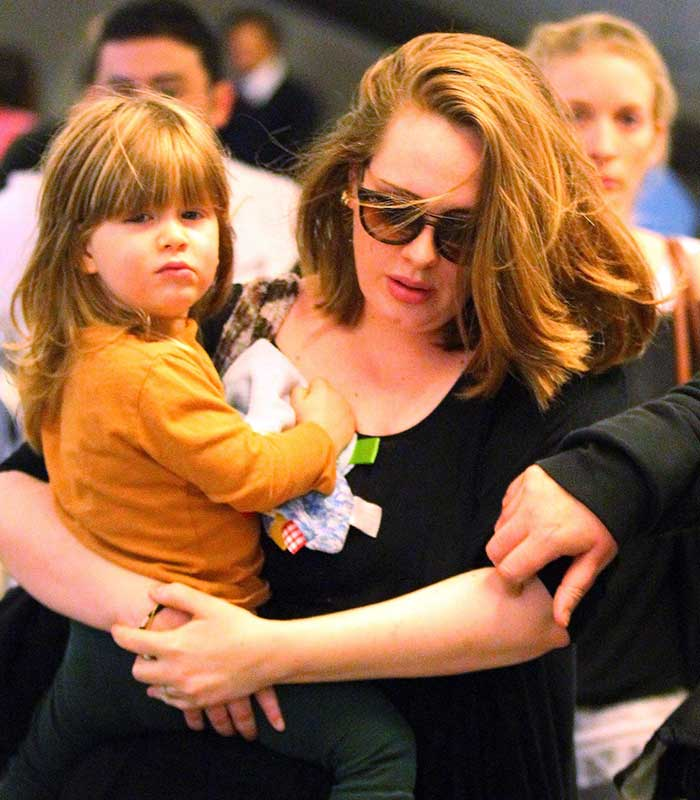 2015 ADELE AND HER TWO YEAR OLD SON, ANGELO OLY