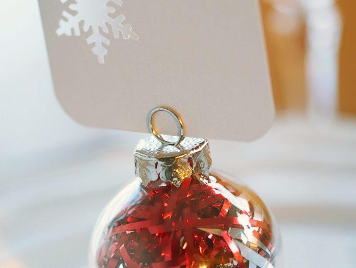 Fai da te segnaposto natalizio