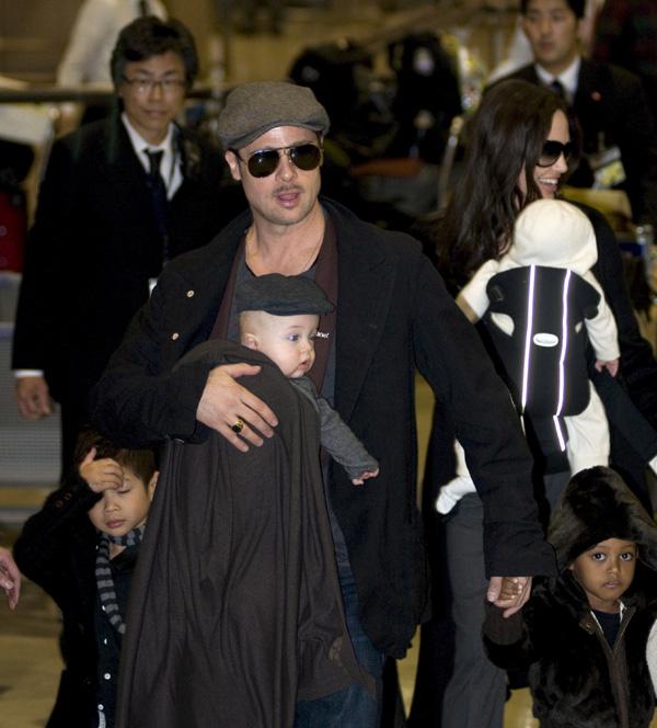 Brad Pitt Angelina Jolie figli 2