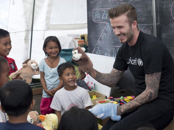 David Beckham UNICEF Filippine