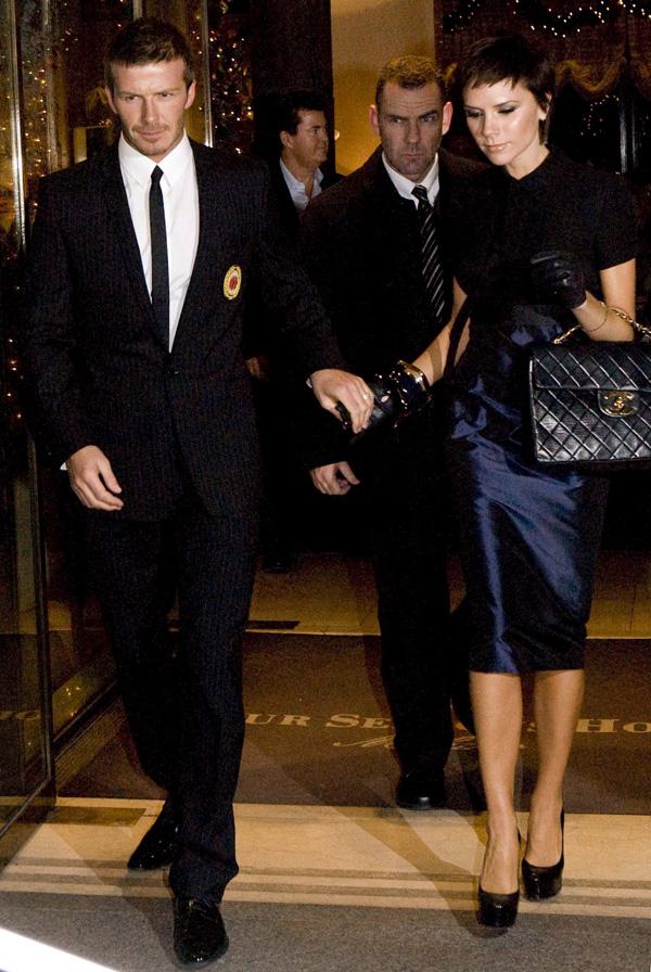 David Beckham Victoria Beckham 2008