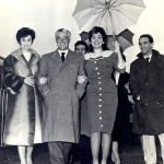 Moira Orfei con Vittorio De Sica nel 1954