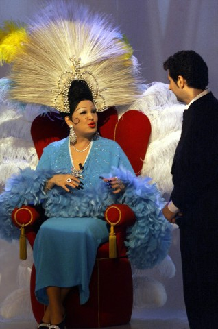 Moira Orfei e Fabio Fazio nel 1999