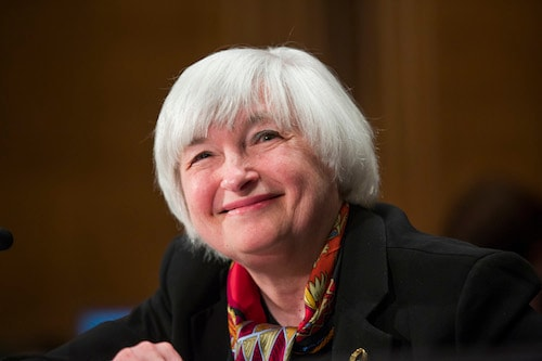 Federal Reserve Chairman Janet Yellen testifies on Capitol Hill