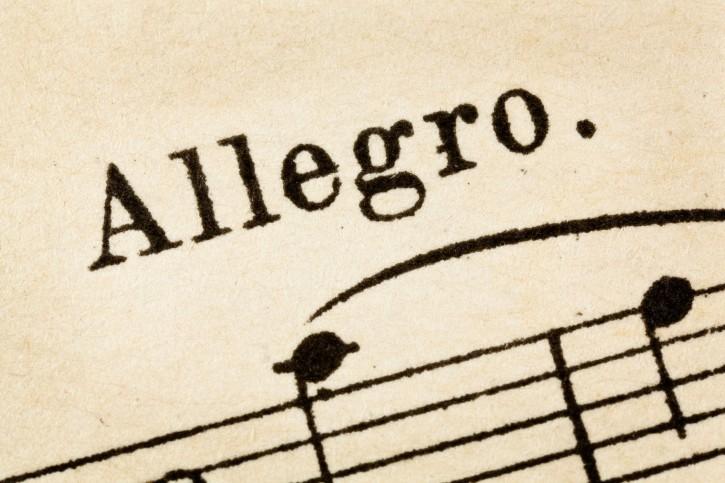 Musica spartita allegro