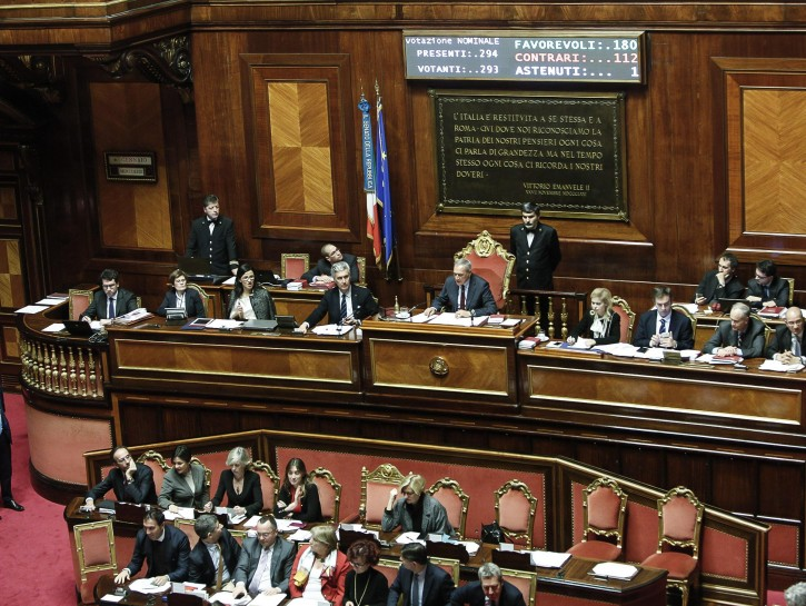 Senato Italia voto