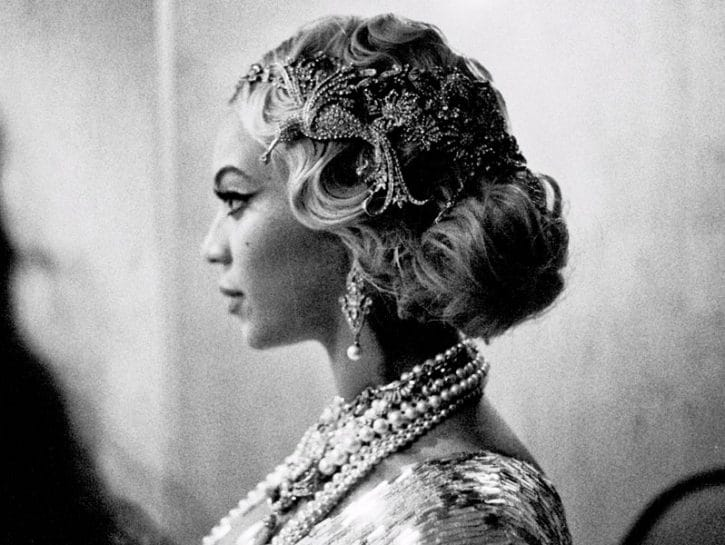 Beyonce in bianco e nero