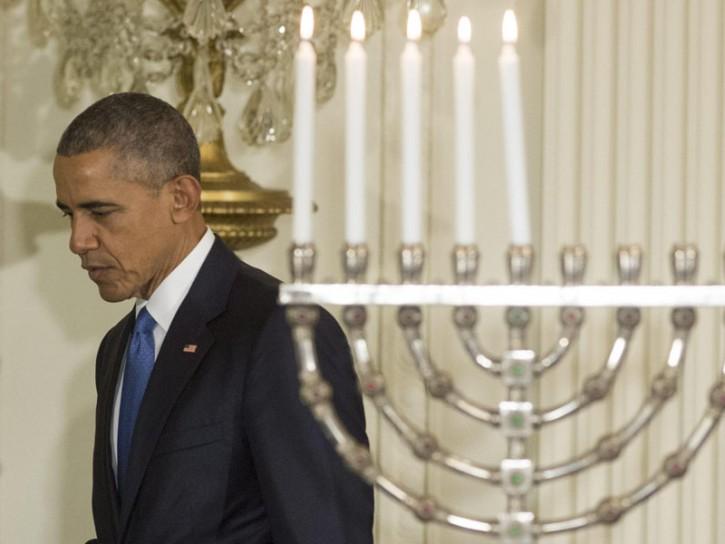 Barack Obama alla Casa Bianca - celebrazioni ebraiche di Hanukkah