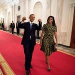 Barack Obama con Michelle Obama