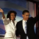 Barack Obama, con Michelle, quando era ancora senatore dell'Illinois