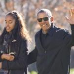 Barack Obama con la figlia Malia