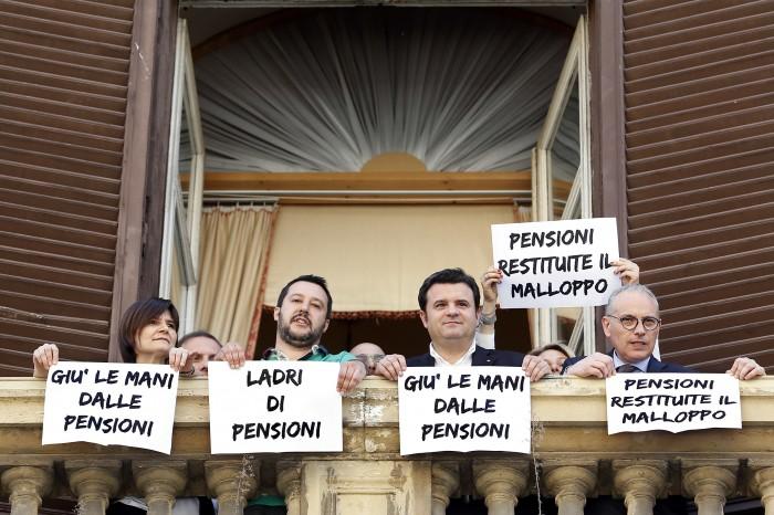 Salvini contro abolizione pensioni