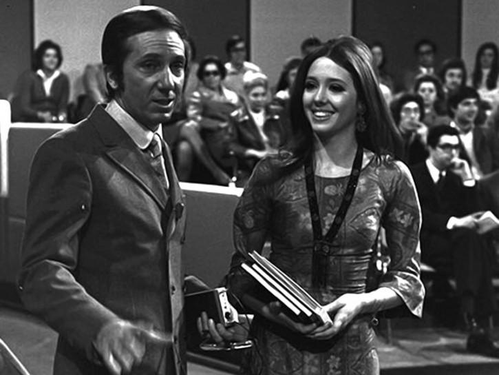 Mike Bongirno con Sabina Ciuffini
