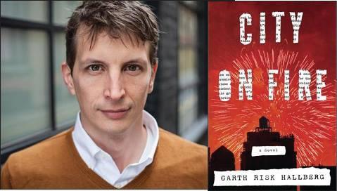Garth Risk Hallberg e la copertina americana di Città in fiamme (Mondadori)