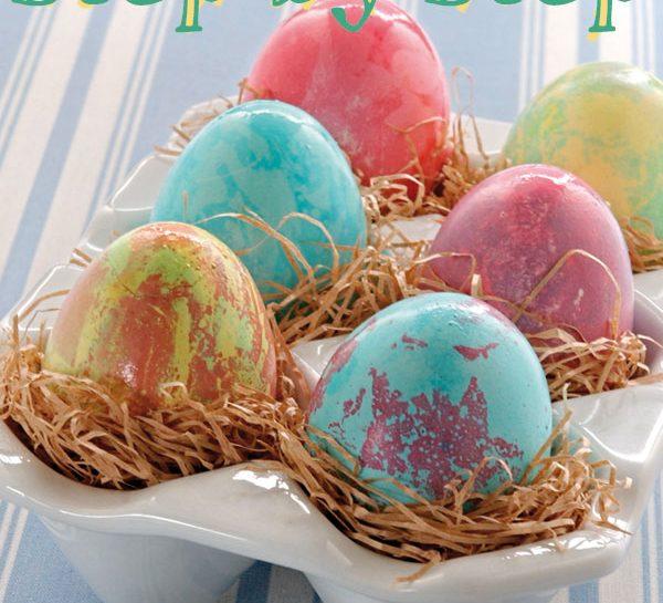 Uova di Pasqua Marmorizzate