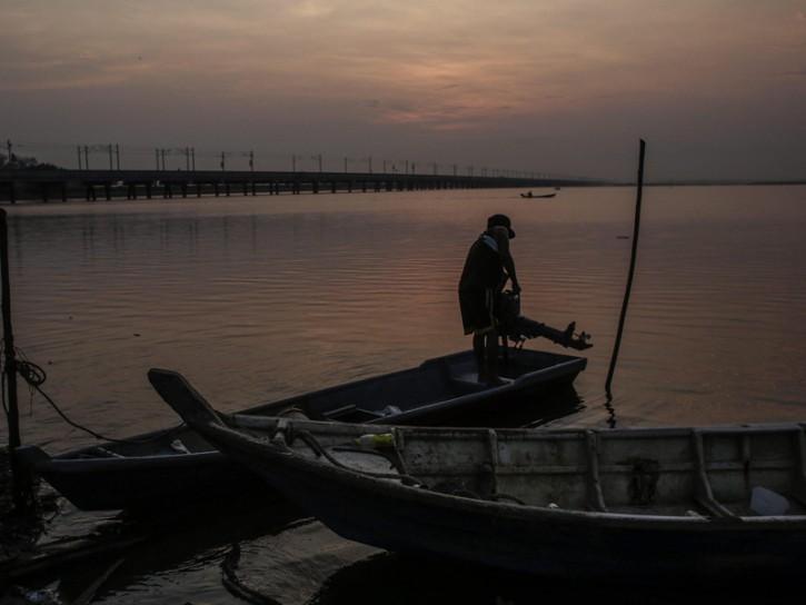 Pescatore in Malesia