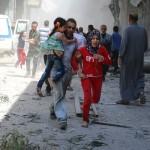 Aleppo air strike