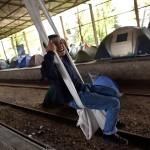 Bambino campo profughi