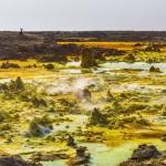La regione della Dancalia nel Corno d'Africa