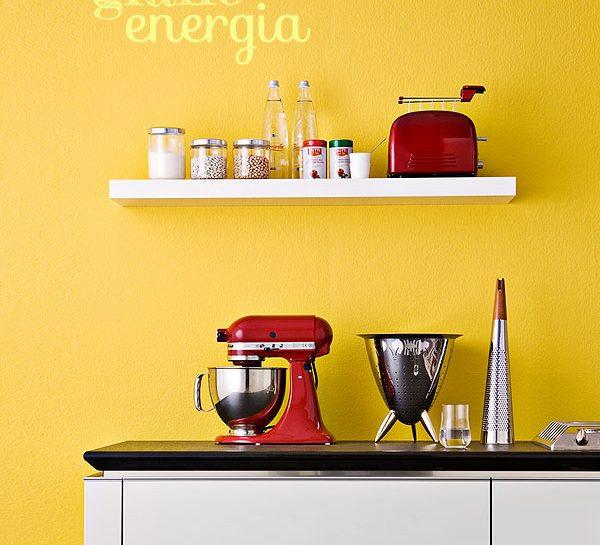 Il giallo per dare energia alla cucina