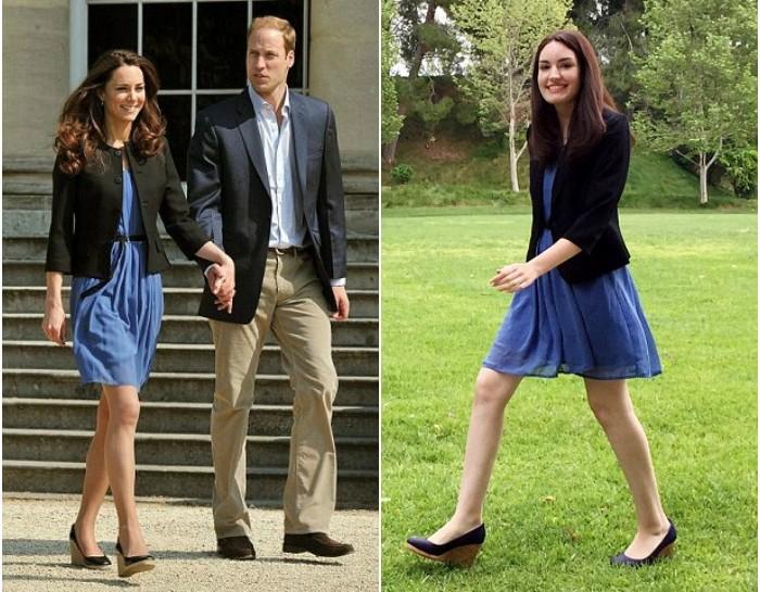 Kate Middleton e la sosia perfetta (almeno nel look)