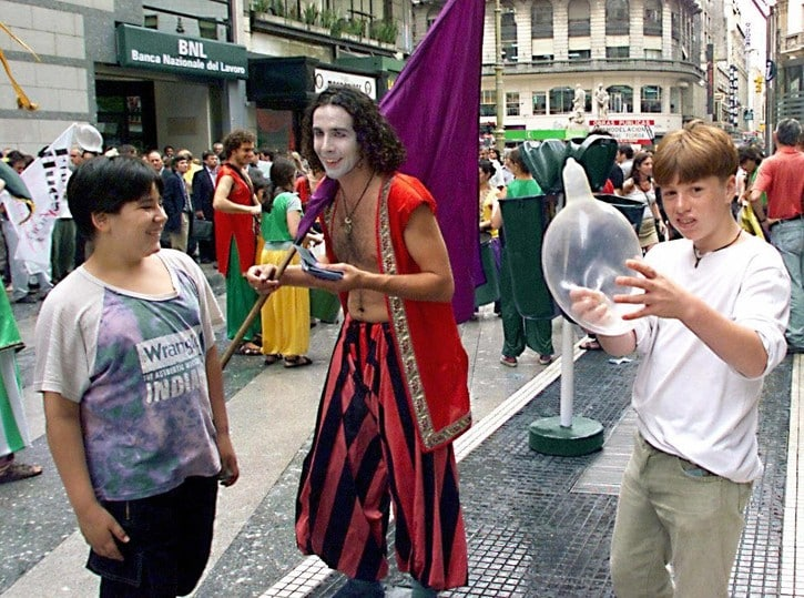 manifestazione anti Aids