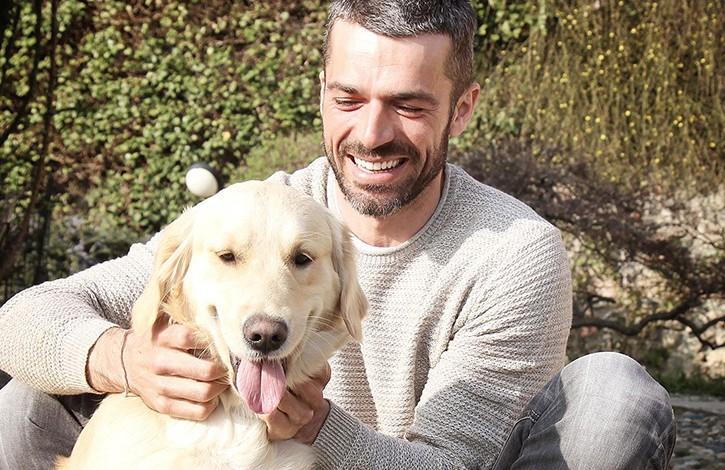 Luca Argentero e cane