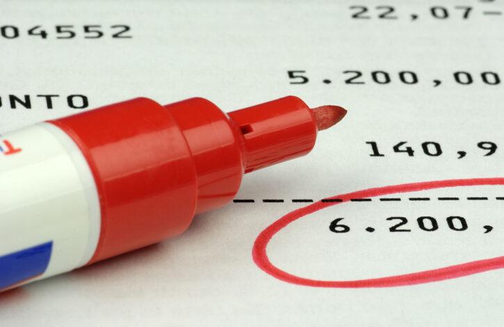 Conto corrente banca pennarello