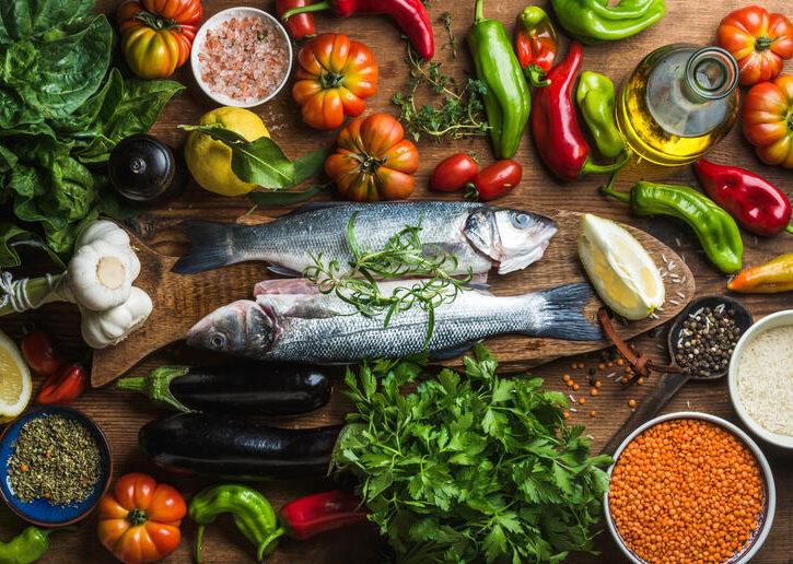 pesce verdura