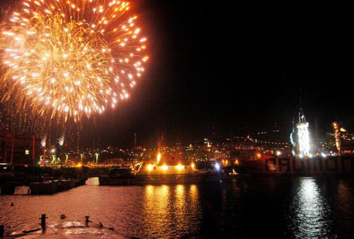 Fuochi d'artificio su Genova