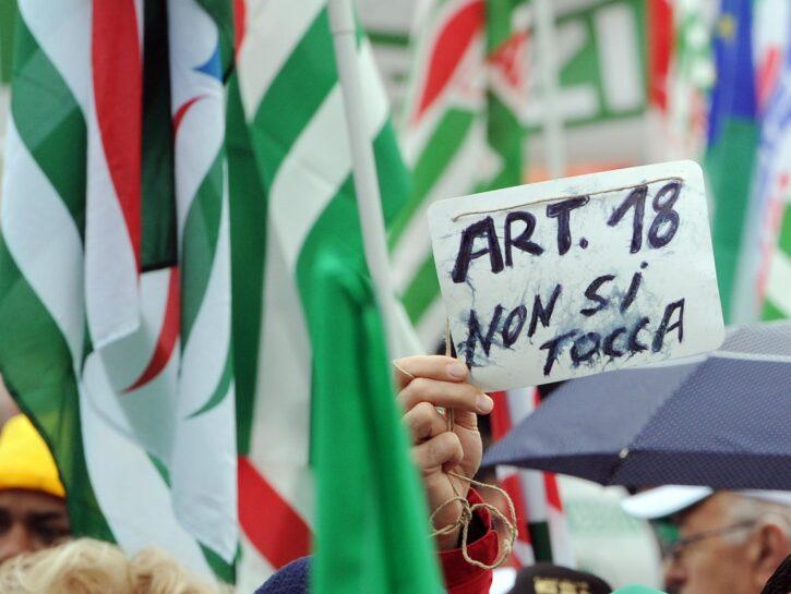 Jobs Act manifestazione articolo 18