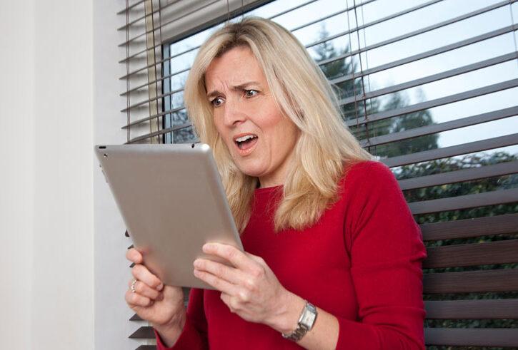 Mamma sorpresa dal tablet