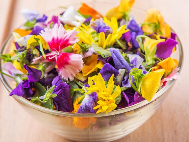 Insalata fiori commestibili