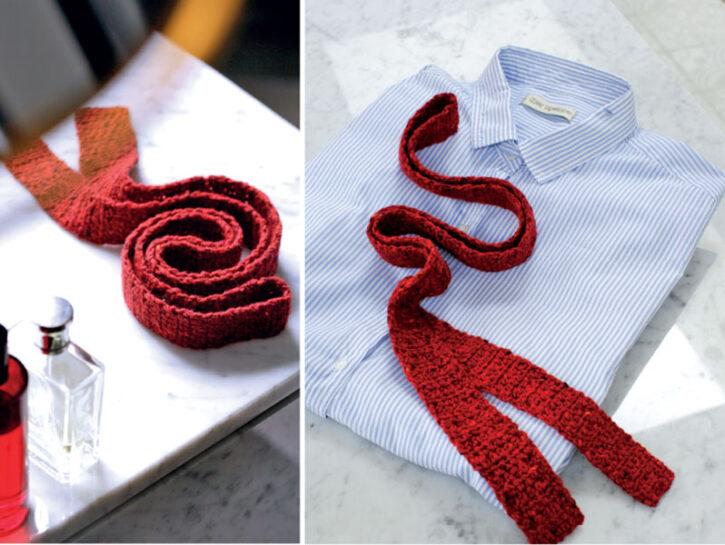 Cravatta tweed