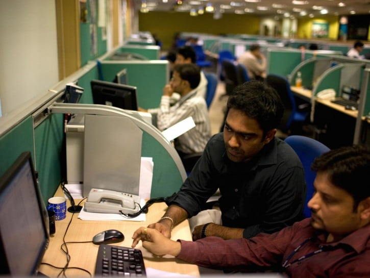 Un call center in India