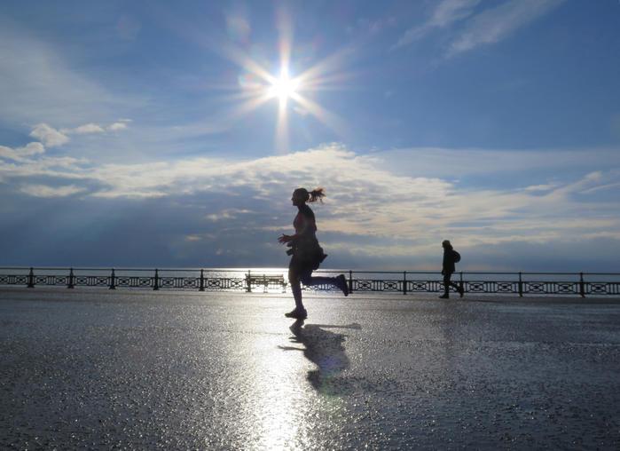 running donna all'alba