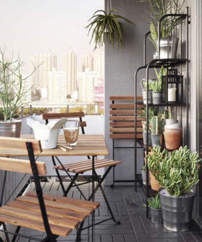 Balcone Piccolo Da Ikea 7 Grandi Idee Per Spazi Mini Donna Moderna