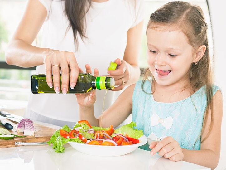 Olio EVO nell'alimentazione dei bambini