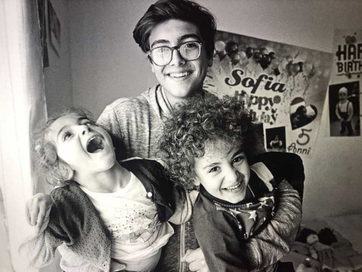Sofia Marchetti disabile e i suoi fratelli