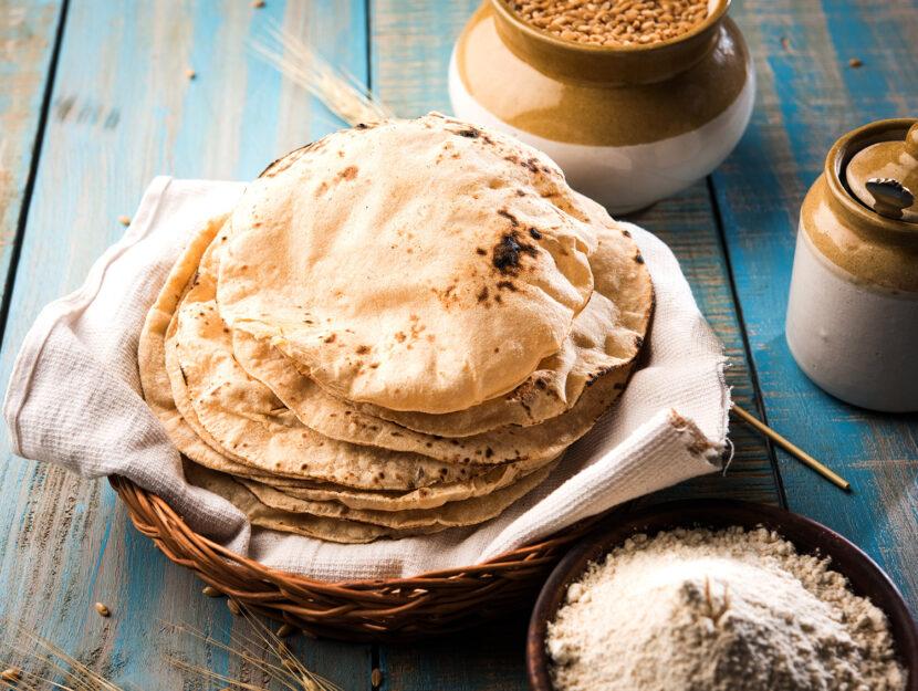 Pane chapati indiano senza lievito