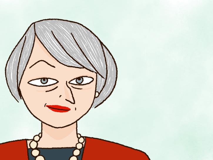 Theresa May fumetto